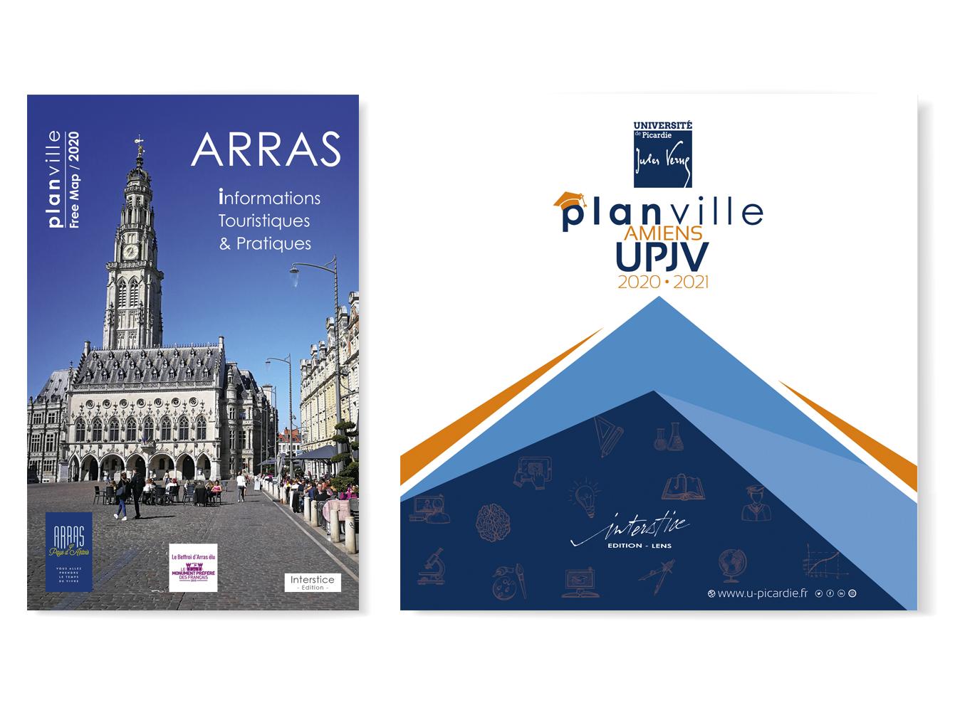 Plans de villes, universitaires